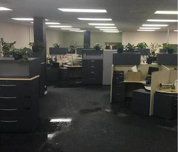 Commercial Water Damage – Chicago Before