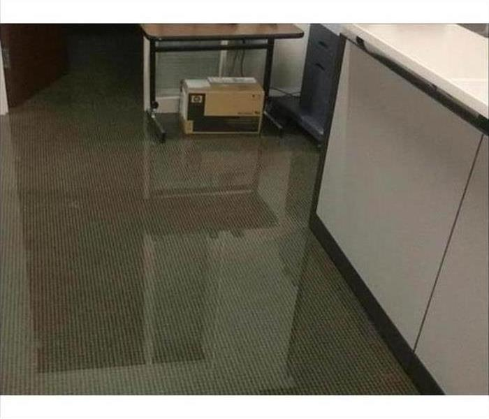 Commercial Water Damage – Chicago Office Before