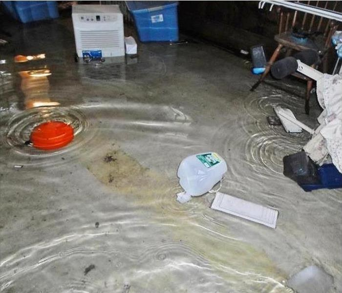 Standing Water in a Chicago Garage